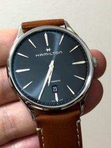 ハミルトン ジャズマスター シンラインオート 時計の色味