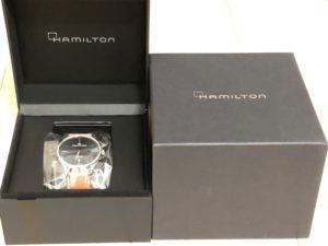 ハミルトン ジャズマスター シンラインオート 時計と箱