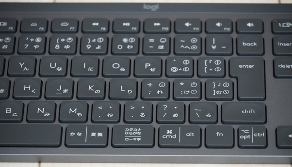 MX Keys(KX800)本体のキー アップ画像