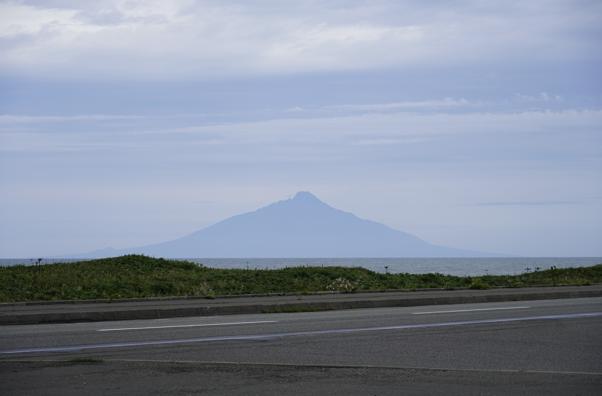 駐車場からの利尻島