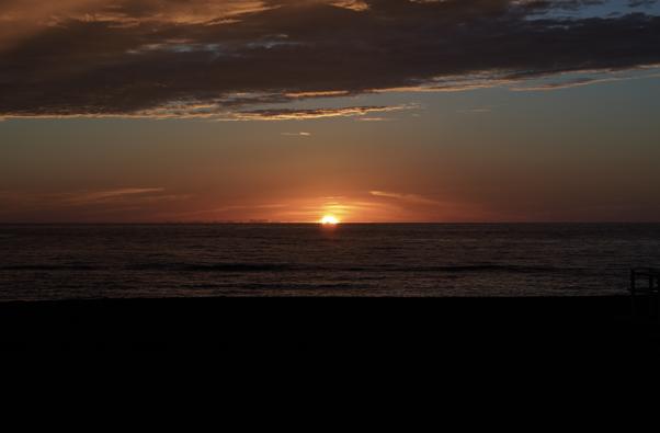 留萌からの夕陽